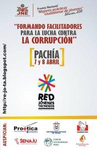 Rejota capacitará a jóvenes contra la corrupción*