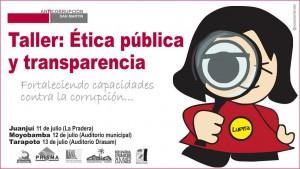 """Taller """"Ética pública y Transparencia"""" de la Red San Martín."""