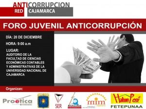 Foro Juvenil Anticorrupción Cajamarca.