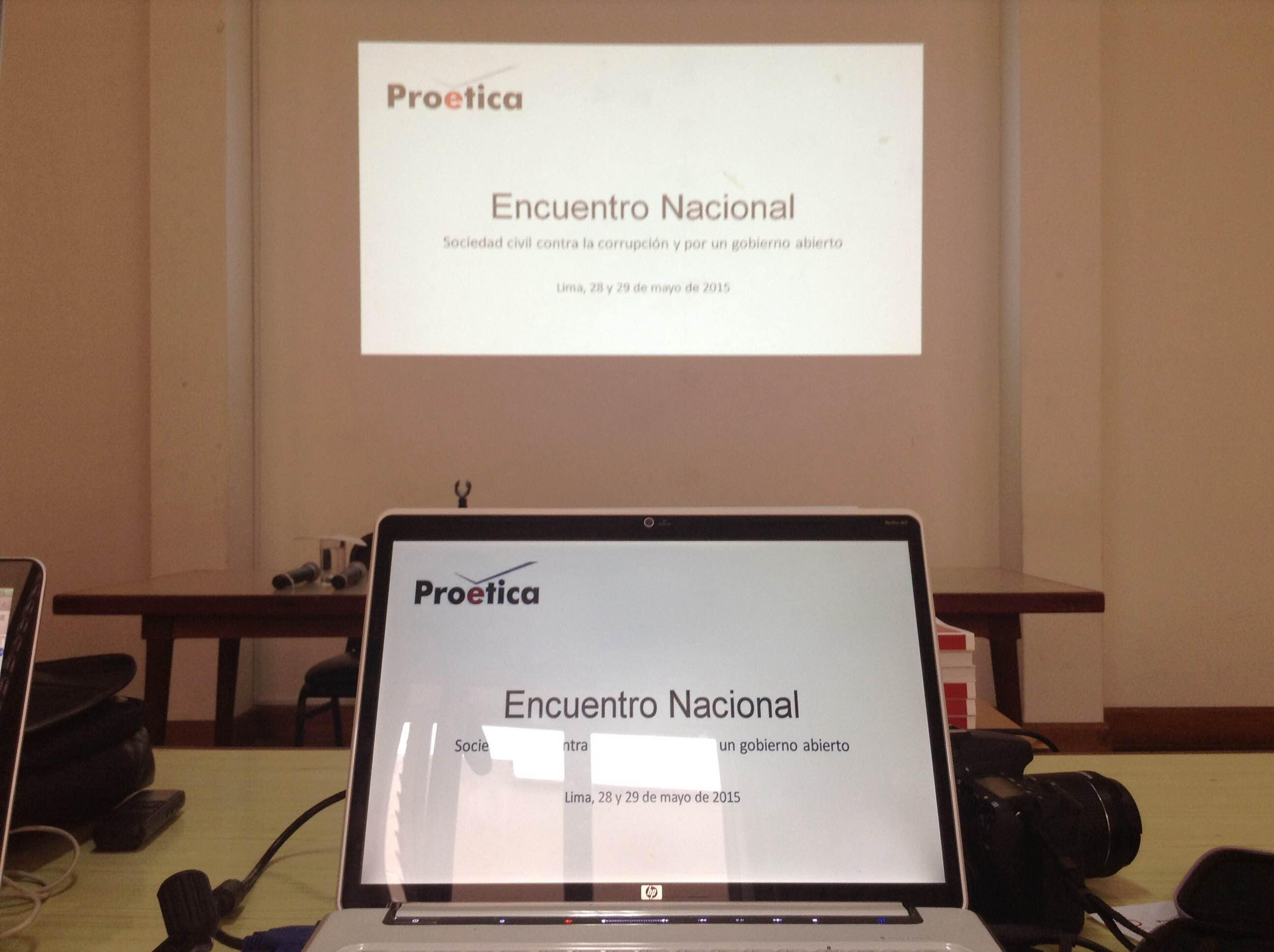 Encuentro Nacional: Sociedad Civil Contra la Corrupción y por un Gobierno Abierto.